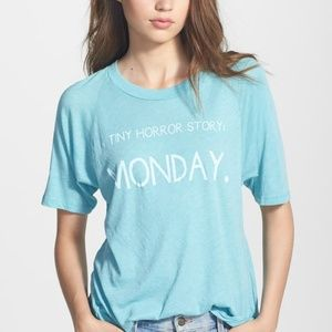 Wildfox Blue Tiny Horror Story Tee